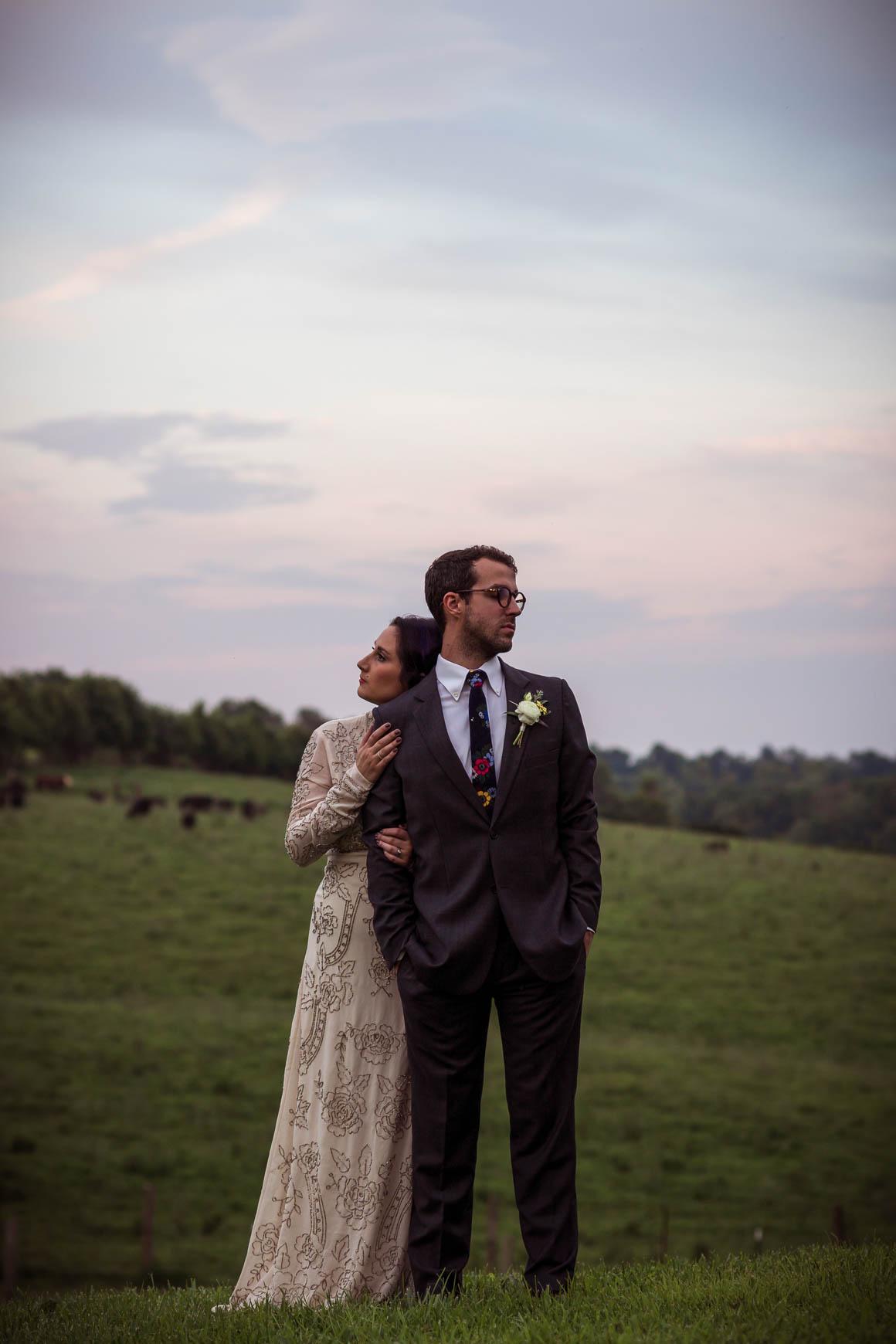 Dusk Wedding Couple