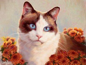 Siamese Cat Painting